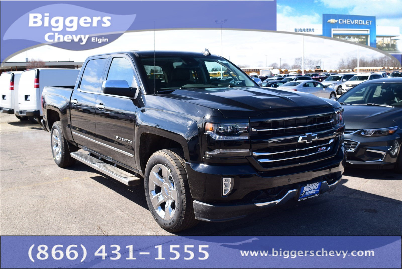 new 2017 chevrolet silverado 1500 ltz 4d crew cab near schaumburg 3170511 biggers chevrolet. Black Bedroom Furniture Sets. Home Design Ideas